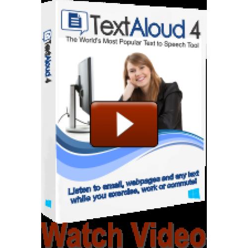 Buy TextAloud 4 + Acapela Louise Canadian French Female Voice Online