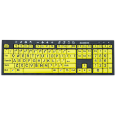 ZoomText Large-Print Keyboard - U.S. English - Black Print on Yellow
