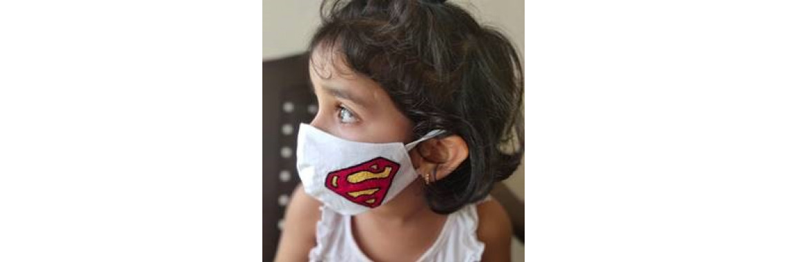 Mask for Children -3 Ply Cotton Washable